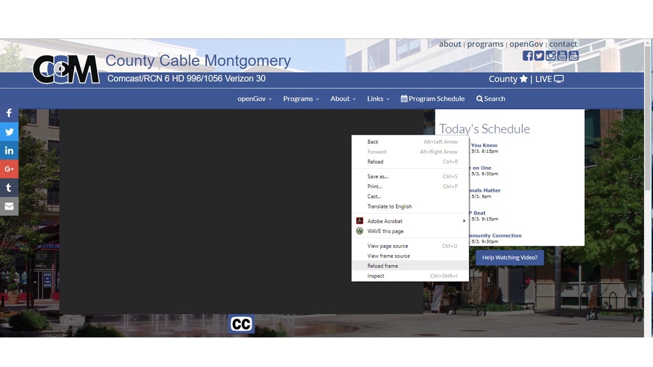 County Cable Montgomery (CCM) - Video Information