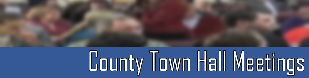 County Town Hall Meetings