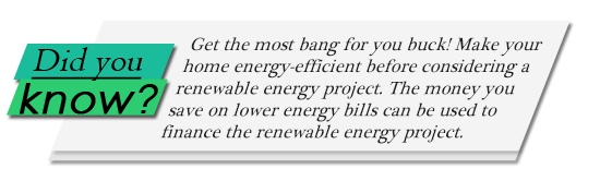 Image of Did You Know? graphic on saving money before installing renewable energy