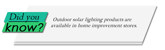 Image of Did You Know? graphic on outdoor solar lighting