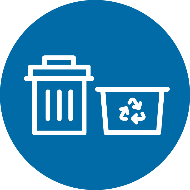trash and recycling icons