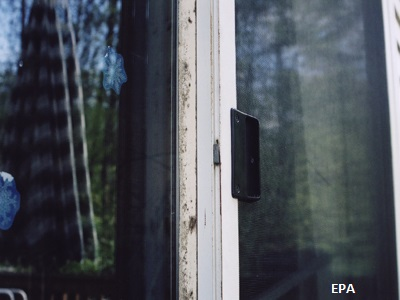 Mold on Sliding Glass Door