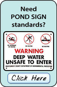 Pond sign requirements