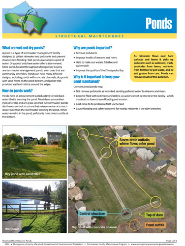 Ponds structural maintenance fact sheet