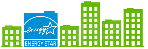 Image of ENERGY STAR logo with buildings