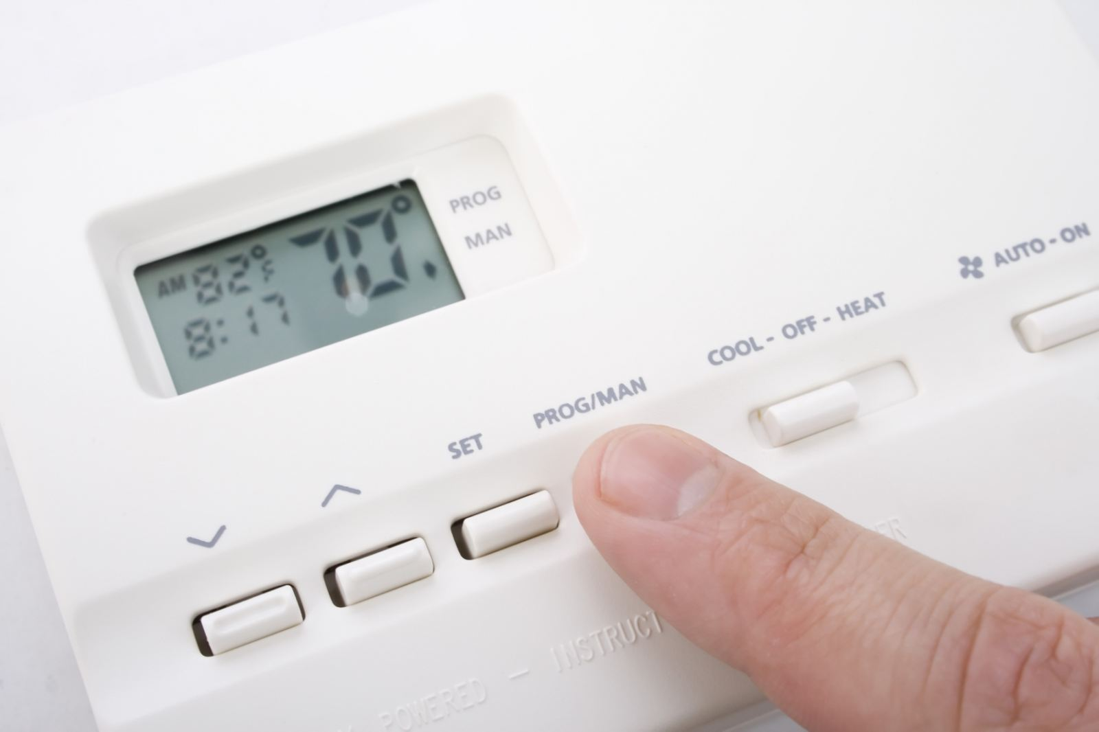 Photo of a Programmable Thermostat