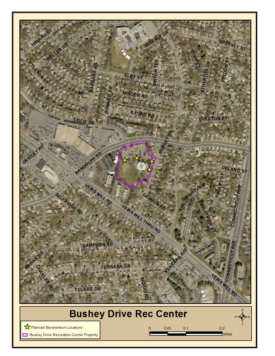 Bushey Drive Recreation Center Project Map