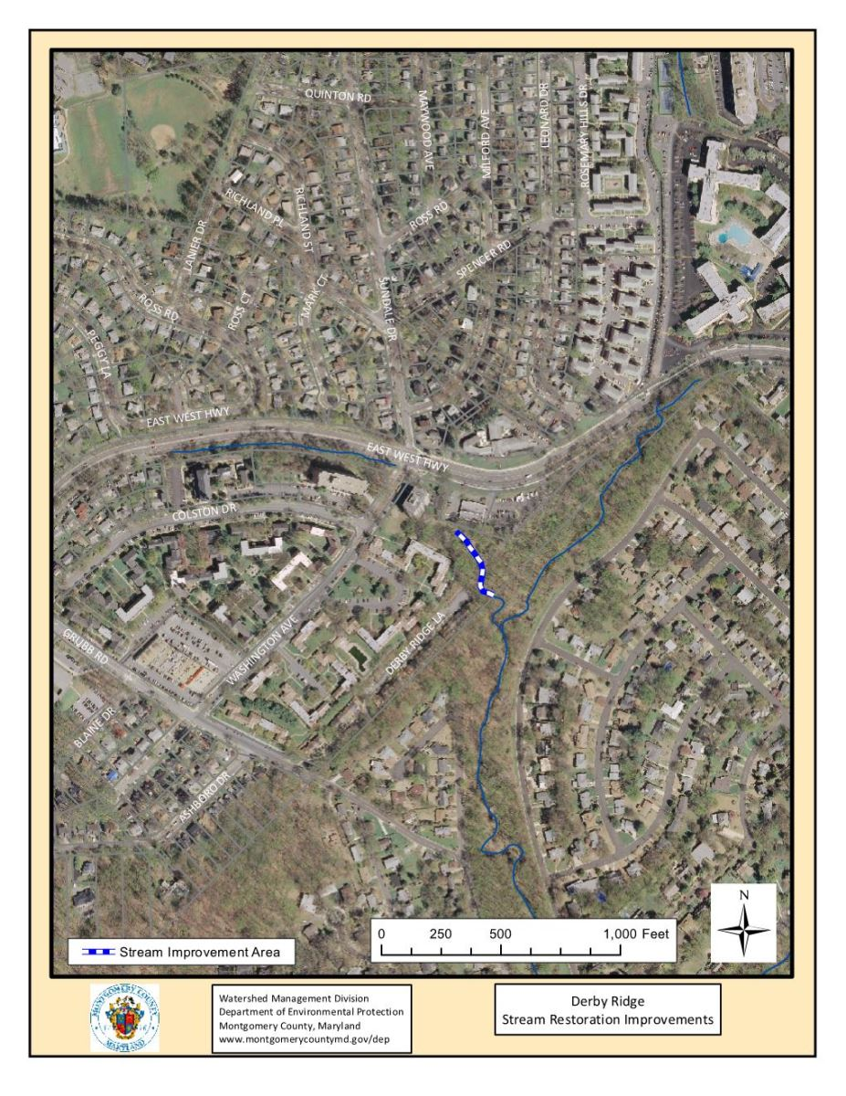 Derby Ridge Stream Restoration Map