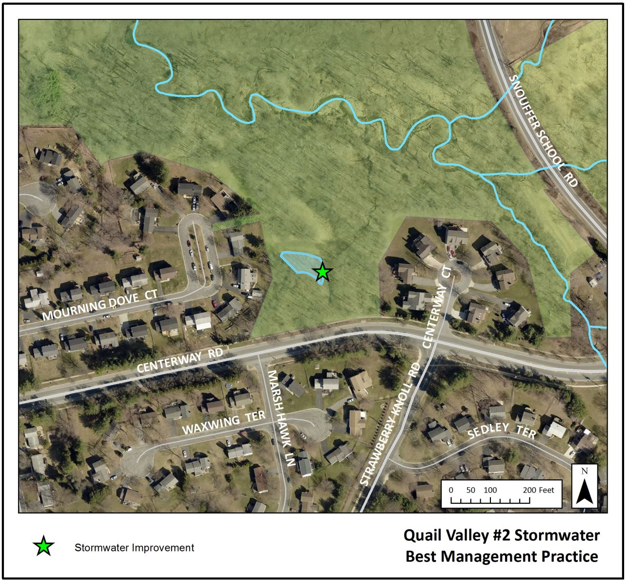 Quail Valley 2 Stormwater Pond Map
