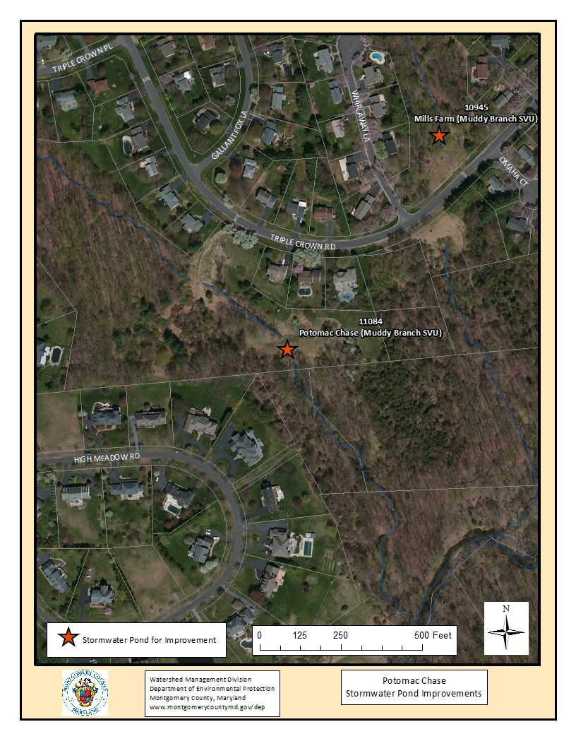 Potomac Chase Stormwater Pond Map