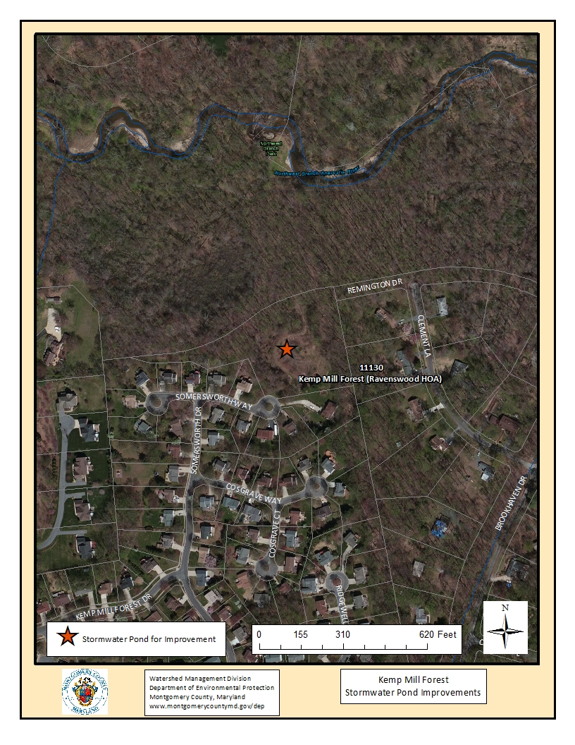 Kemp Mill Stormwater Pond Map