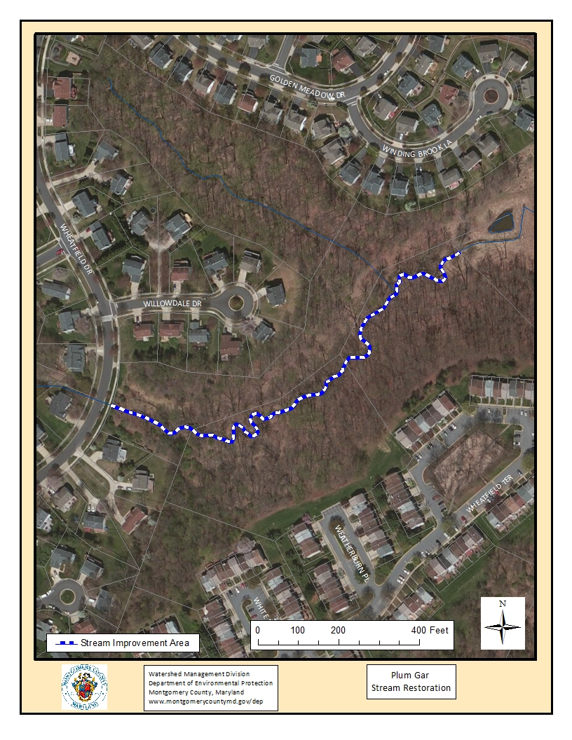 Plum Gar Stream Restoration Map