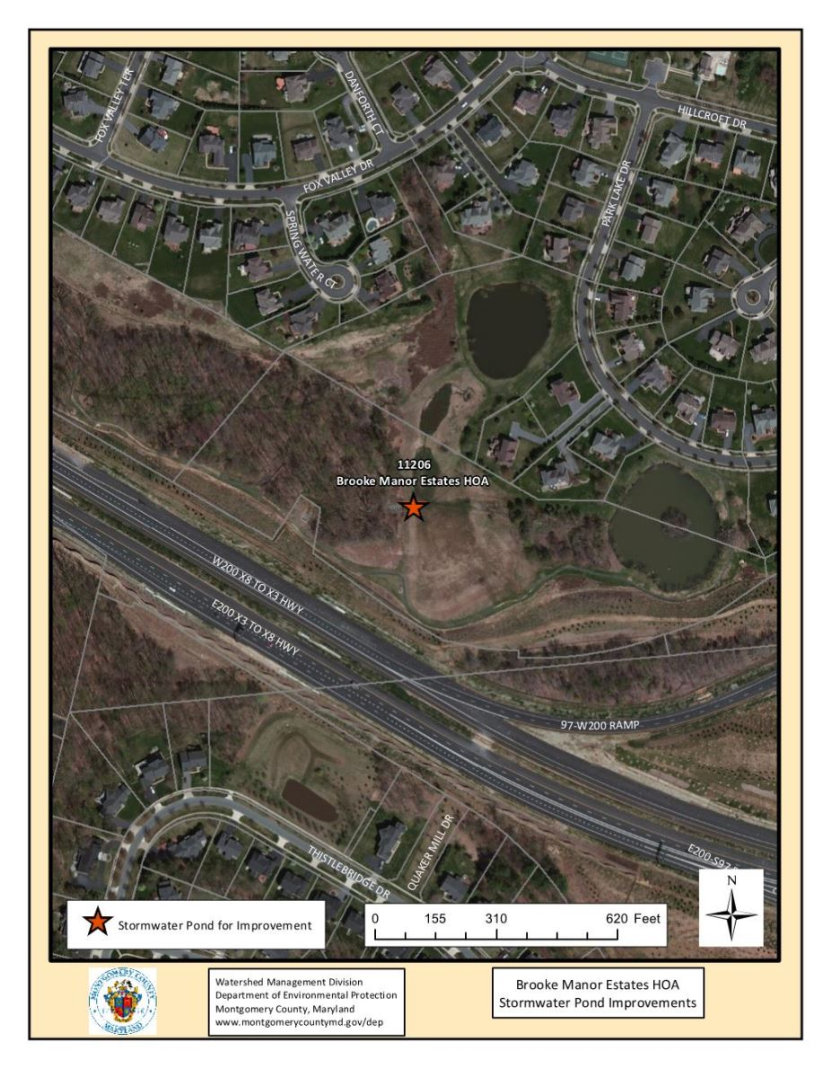 Brooke Manor Estates Stormwater Pond Restoration Project Map
