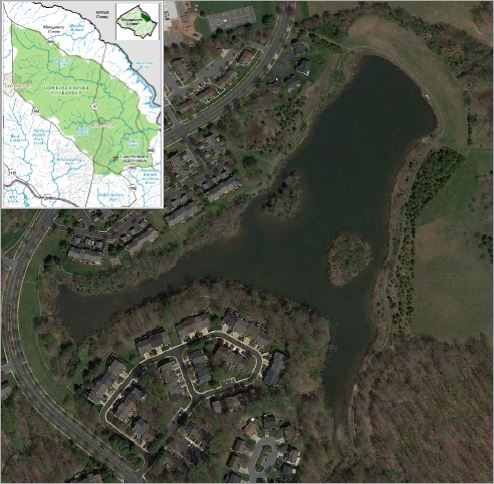 Map of the Lake Hallowell sediment removal project.