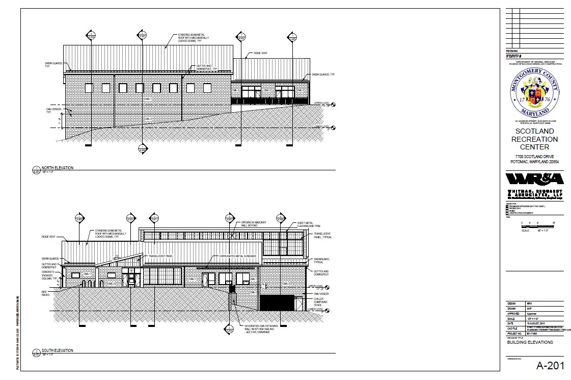 Scotland Community Recreation Center - North and South Elevations