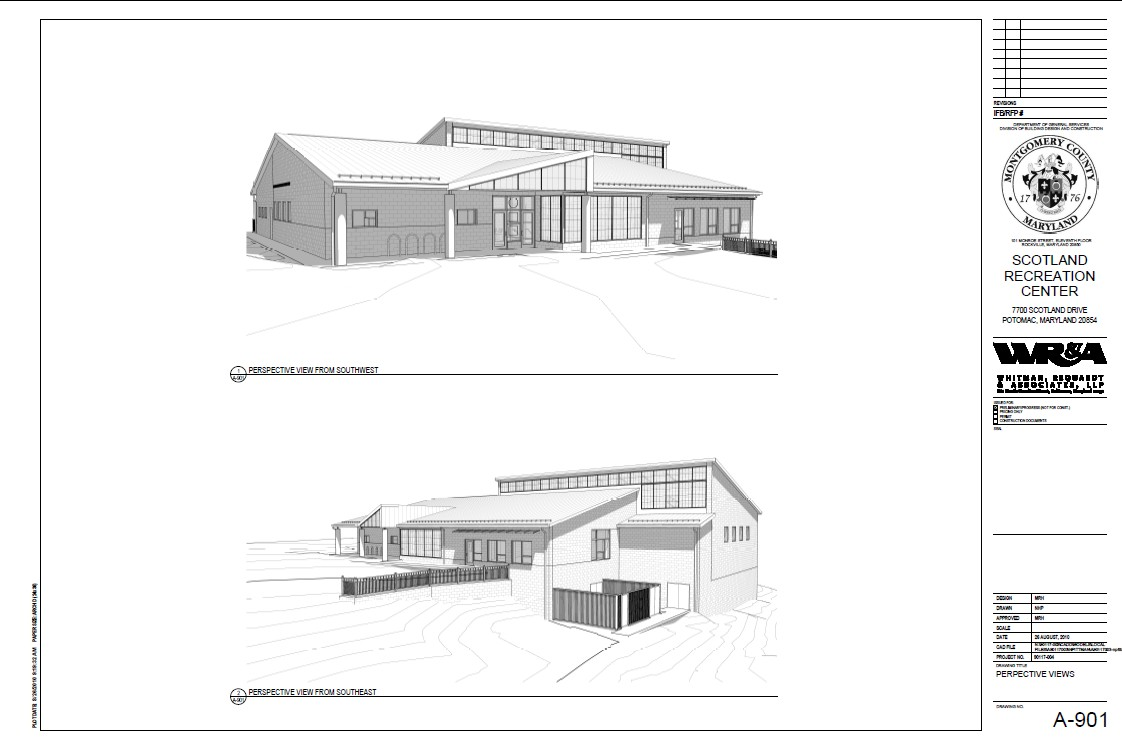 Scotland Community Recreation Center - Perspective Views