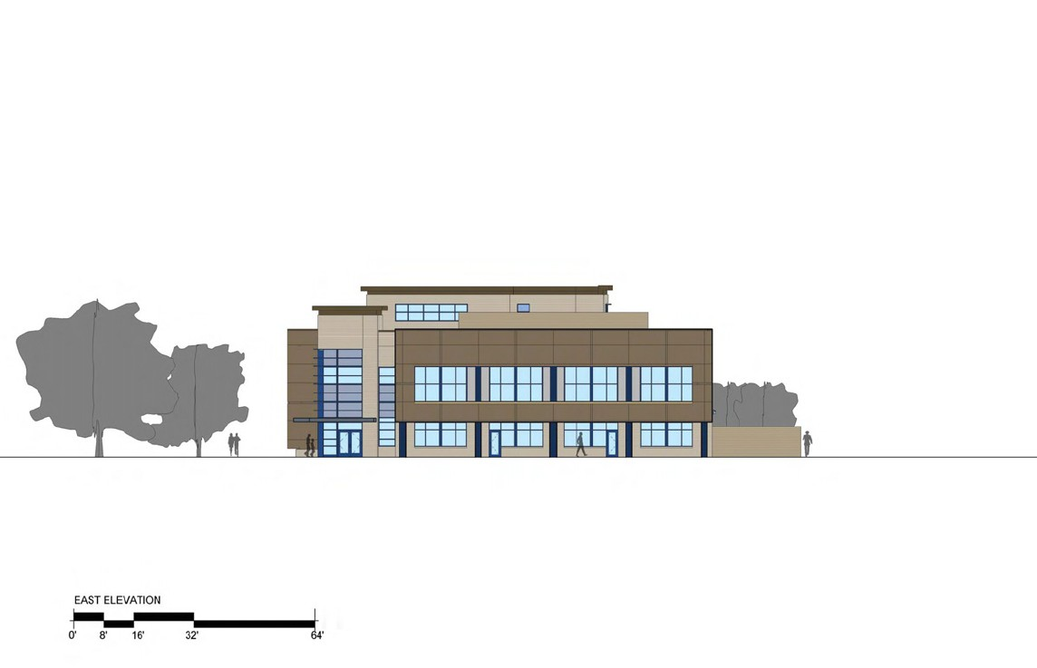 3rd District Police Station - East Elevation