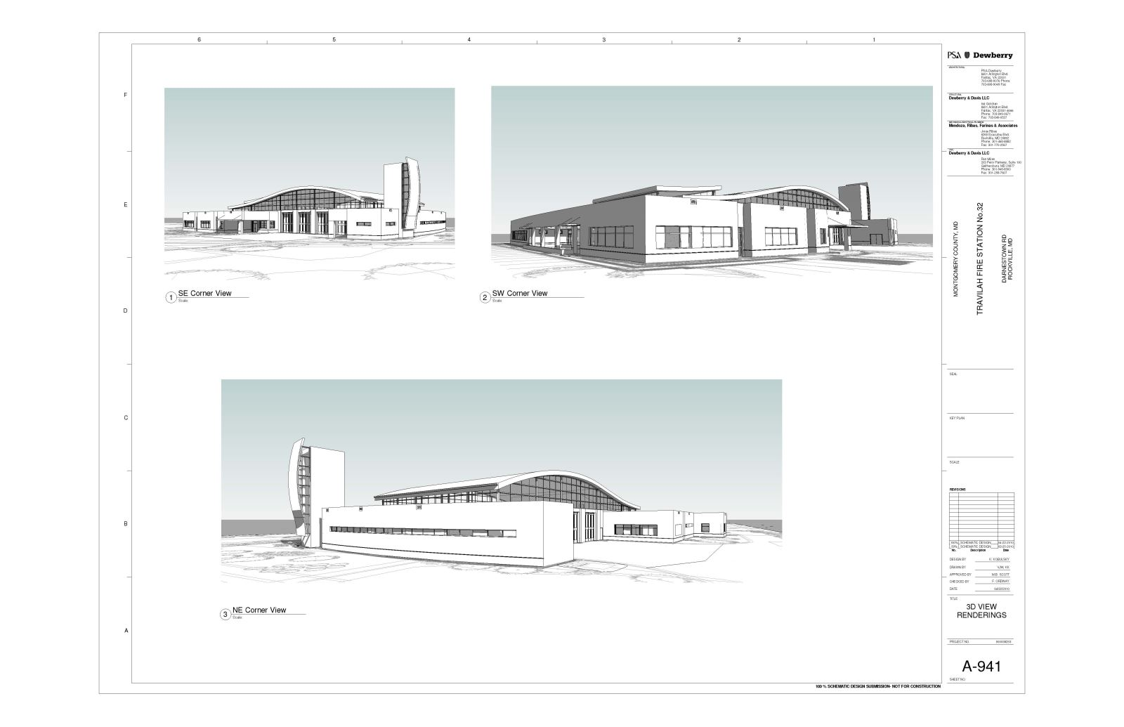 Travilah Fire Station 32 - 3D Renderings