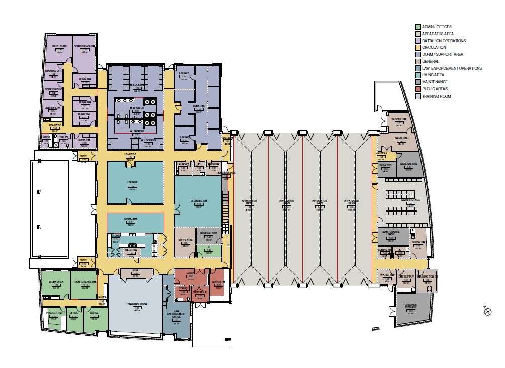 Travilah Fire Station 32 - Floor Plan