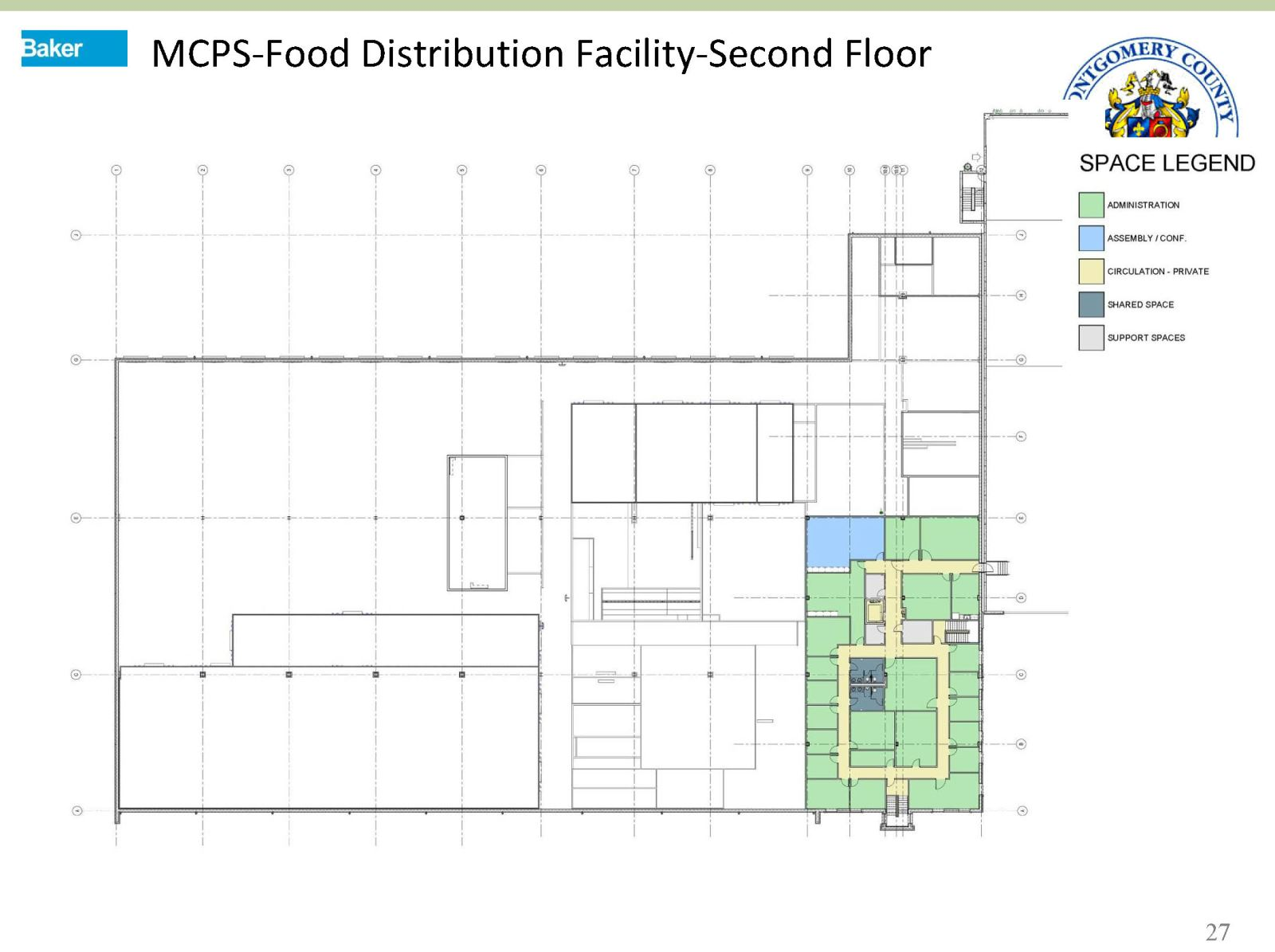MASP & PSTA Project 2: MCPS Food Distribution Relocation - Food Distribution Facility- 2nd Floor