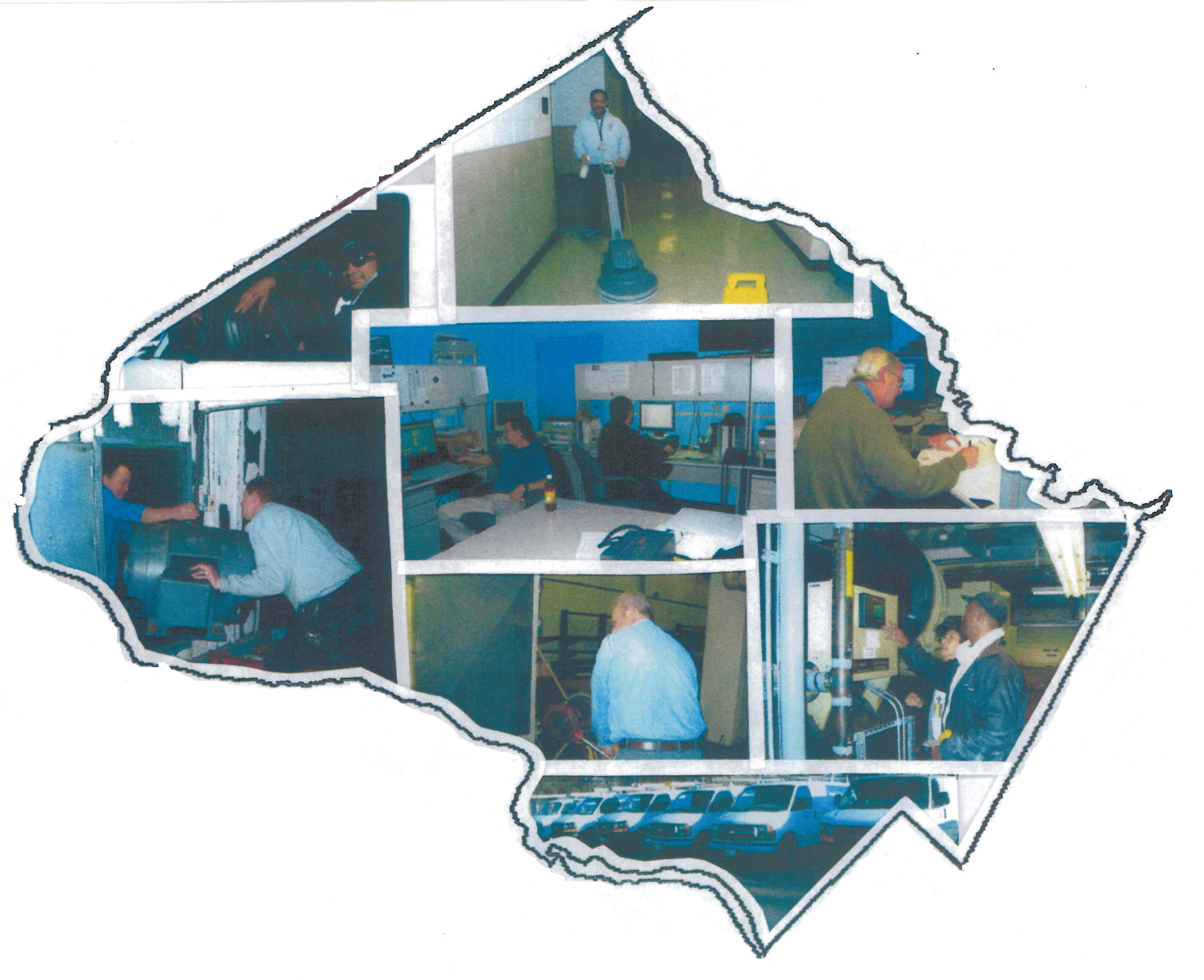 Pictures of various facilities management activities
