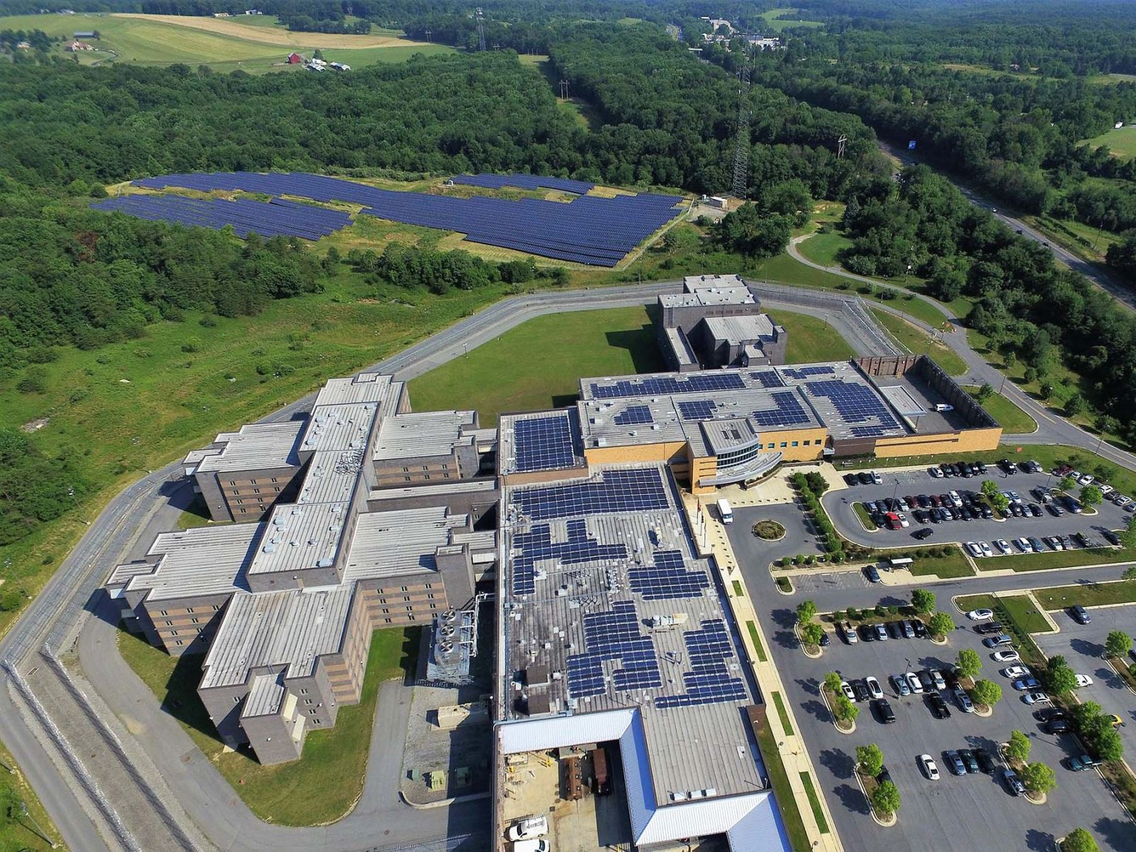Montgomery County Correctional Facility Solar Panels Overview