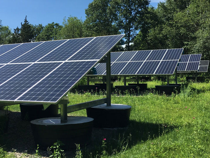 An example of another ballasted ground mount solar energy project