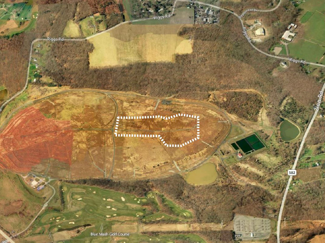 Proposed solar panel location in Oaks Landfill