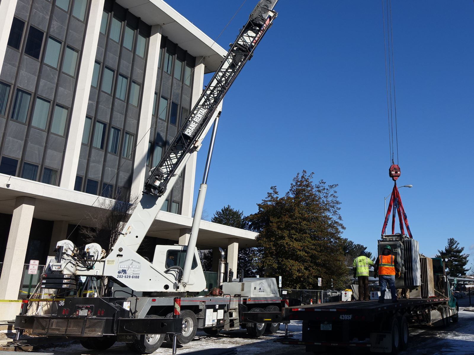 Public Safety Headquarters - Removing transformers