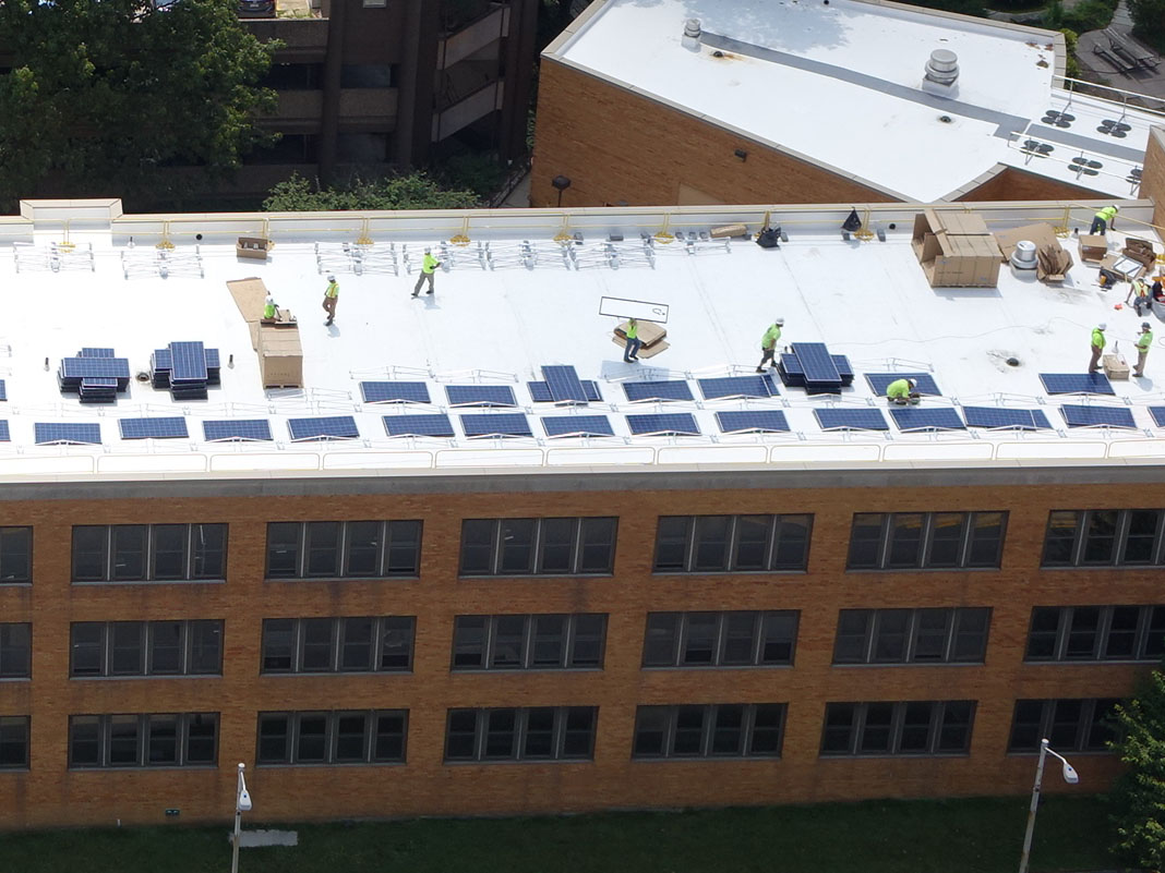 Solar Panels at Council Office Building