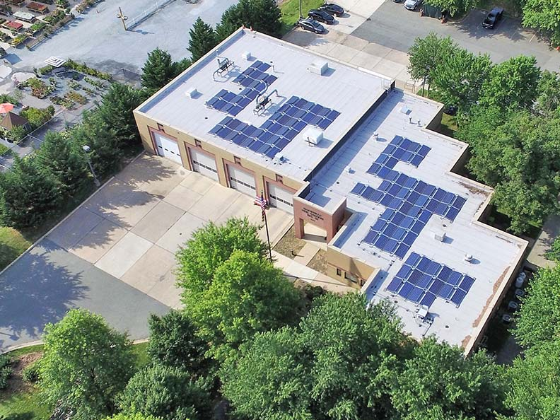 Solar Panels at Fire Station 31
