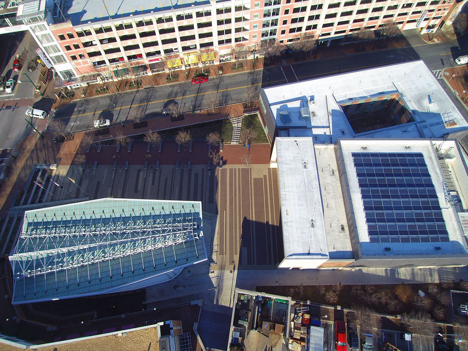Solar Panels at Silver Spring Civic Center