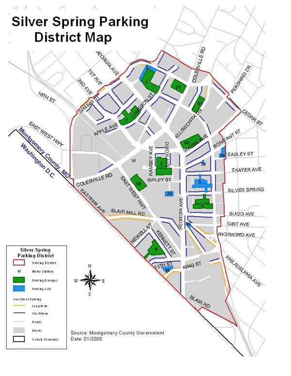 Silver Spring Lot and Garage Map