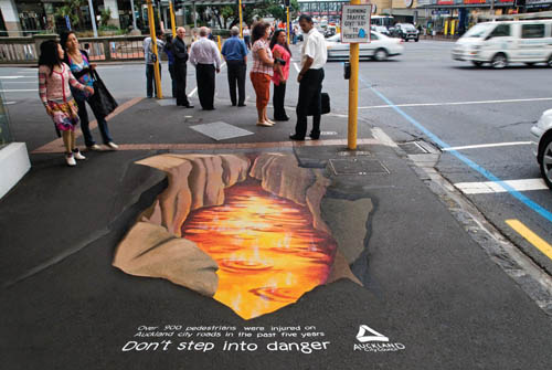 "New Zealand ""Don't Step Into Danger"""
