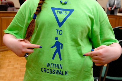 Pedestrian Safety T-Shirts from Ohio