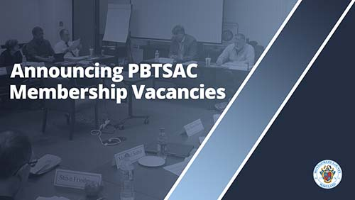 Announcing PBTSAC Membership Vacancies
