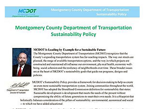 MCDOT Sustainability Policy
