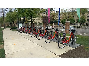 Capital Bikeshare Station at East West Highway and 16th St