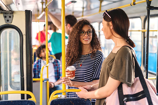 two women on bus