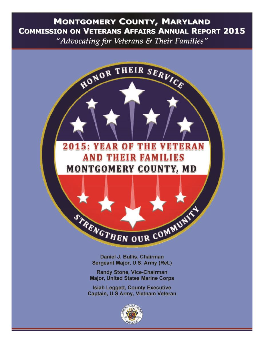 Commission on Veterans Affairs 2015 Annual Report Cover