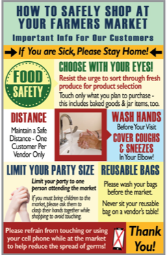Infographic on Shopping Safely at Farmer's Market