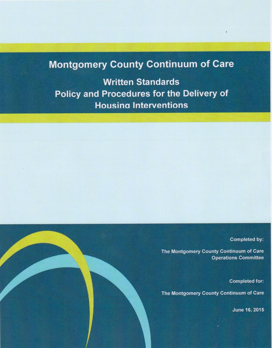 Montgomery County Continuum of Care Written Standards