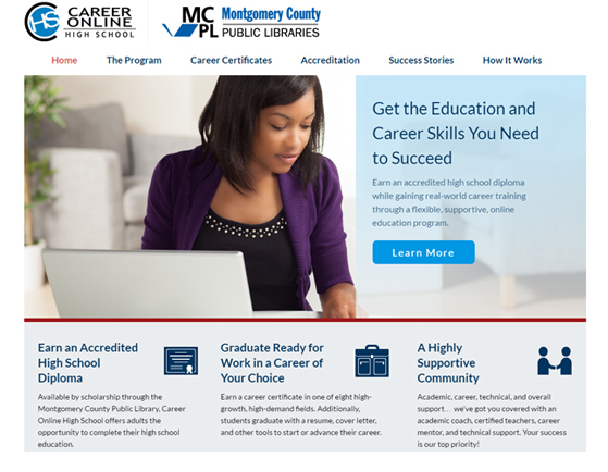 Paperless Airplane: Montgomery County Public Library Career Online