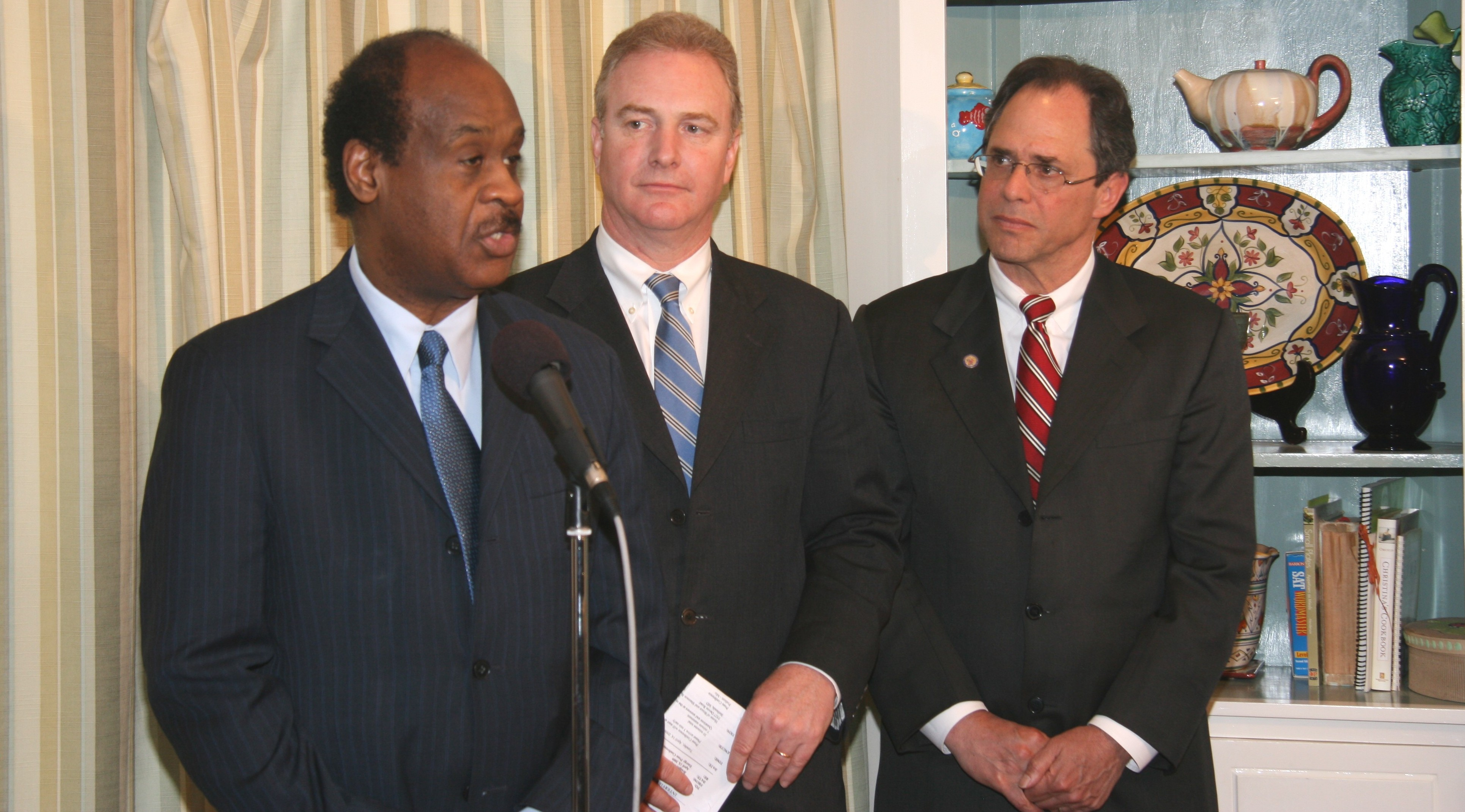 Isiah Leggett, Chris Van Hollen and Roger Berliner