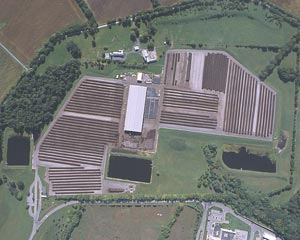 aerial view of Montgomery County Compost Facility in Dickerson, MD