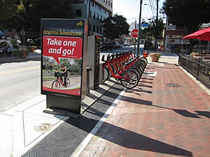 photo of bikeshare station