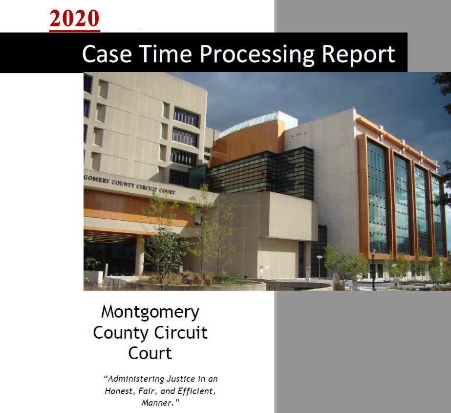 Cover page for Case Processing Time Report