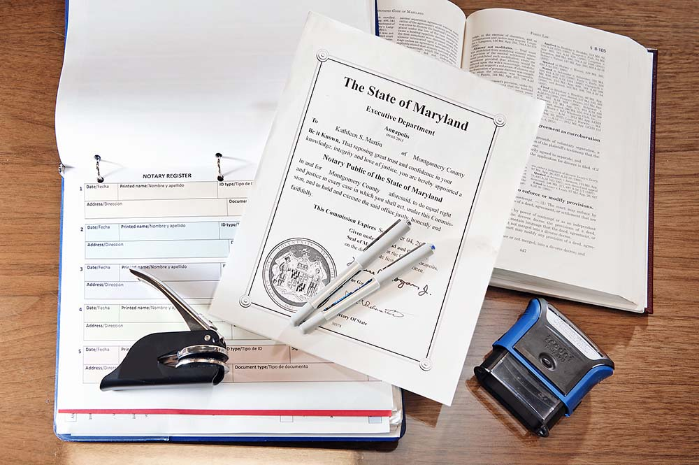 Commissions of Notary Public - Montgomery County, MD Circuit