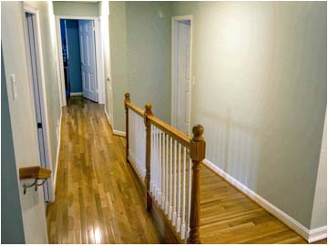Hardwood floors in hallway and landing