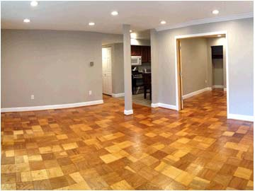 Floors with parquet flooring